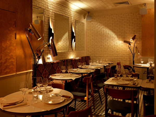 This is a picture of the interior of the BeefClub, which is a great restaurant in Paris.