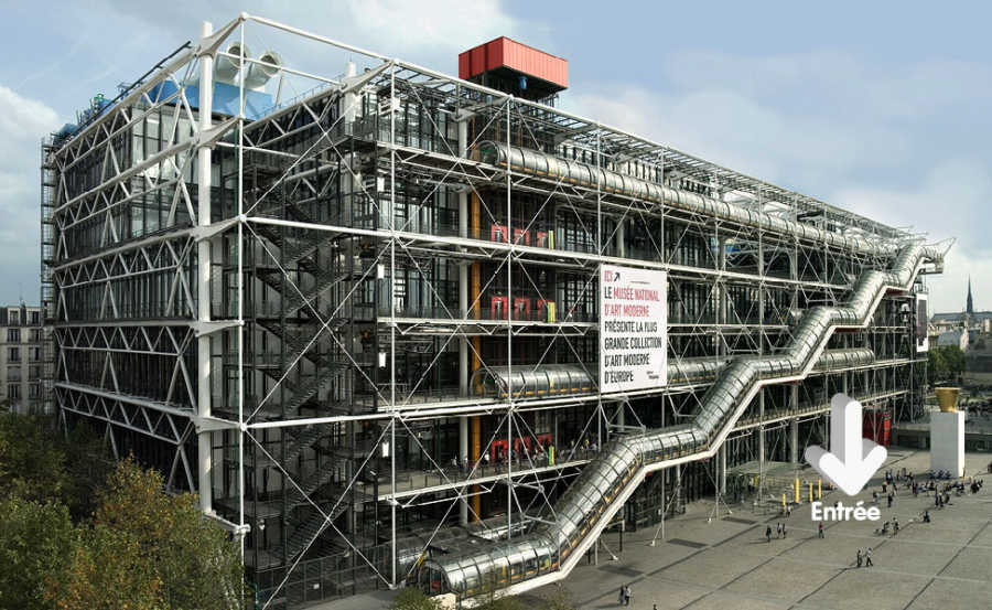 This is a picture of the Centre Pompidou at Paris.