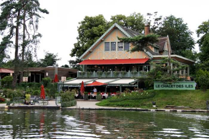 This is a picture of the exterior of the chalet des iles, which is a nice place to see in Paris.