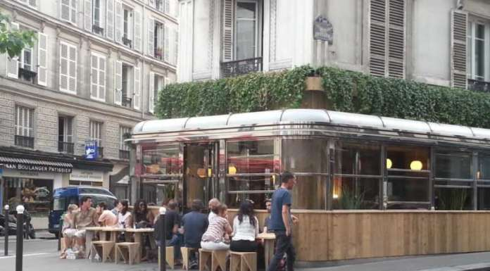This is a picture of the exterior of le dépanneur, which is a nice place to see in Paris.