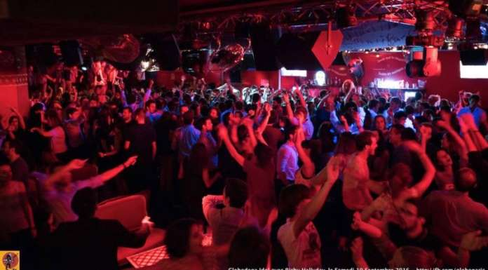 This is a picture of the interior of the Globo, which is a great nightclub in Paris.