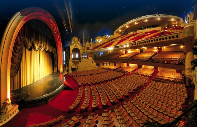 This is a picture of the exterior of the interior of le grand rex in Paris.