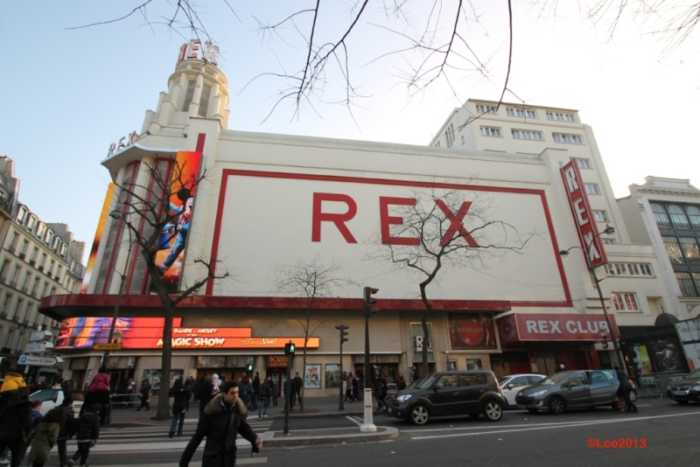 This is a picture of the exterior of the exterior of le grand rex in Paris.