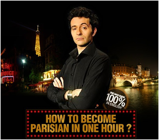 This is a picture of an artist where we can see The Eiffel Tower, the moulin rouge and a bridge in Paris.