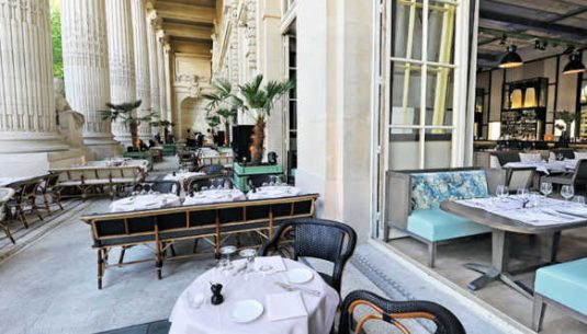 This is the picture of a terrace in Paris.