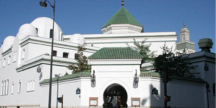 Picture of entrance of the mosquee de paris