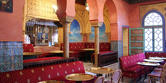 Picture of the restaurant and cafe of the mosquee de paris