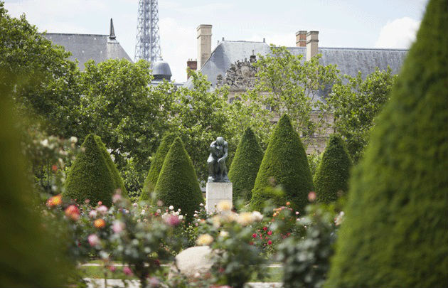 The is a picture of the garden of the musée Rodin at Paris.