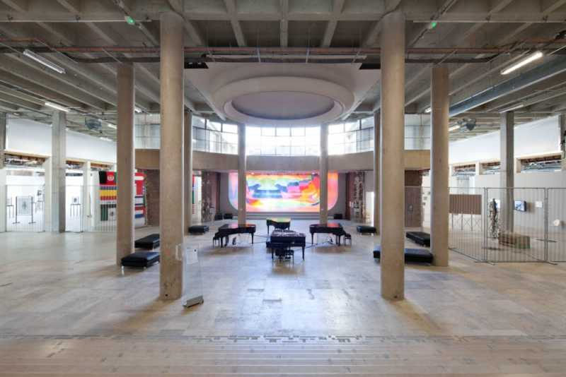 This is a picture of the interior of the palais de Tokyo, which is a great museum to visit in Paris.
