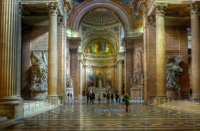 This is a picture of the inside of the Panthéon at Paris.