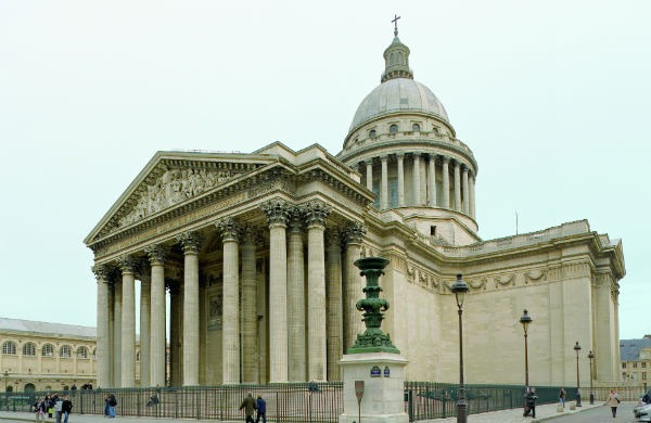 This is a picture of the outside of the Panthéon at Paris.