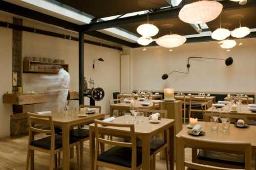 This is a picture of the interior of the Saturne, which is a really great restaurant in Paris.