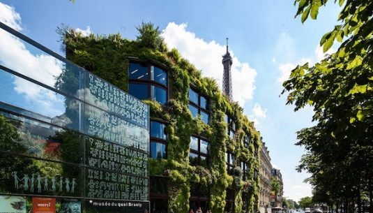 This is a picture of the outdoor of a great museum in Paris.