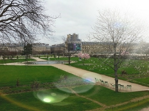 This is a picture of the jardin des tuileries in Paris.