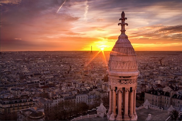 Picture of the sunset at Montmartre Paris.