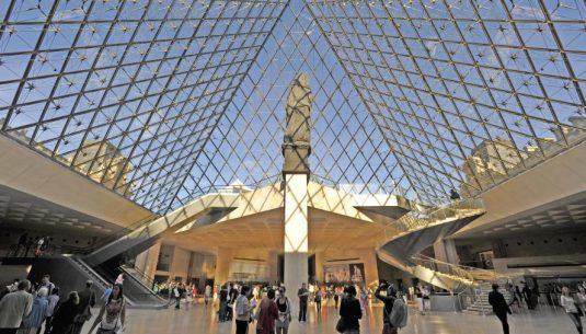 Louvres inside pyramide Paris