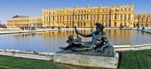 Picture of the chateau de Versailles.