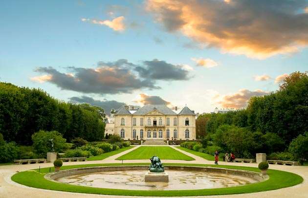 Picture of the musée Rodin garden in Paris.