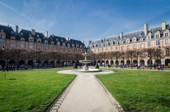 Picture of the place des Vosges in Paris.