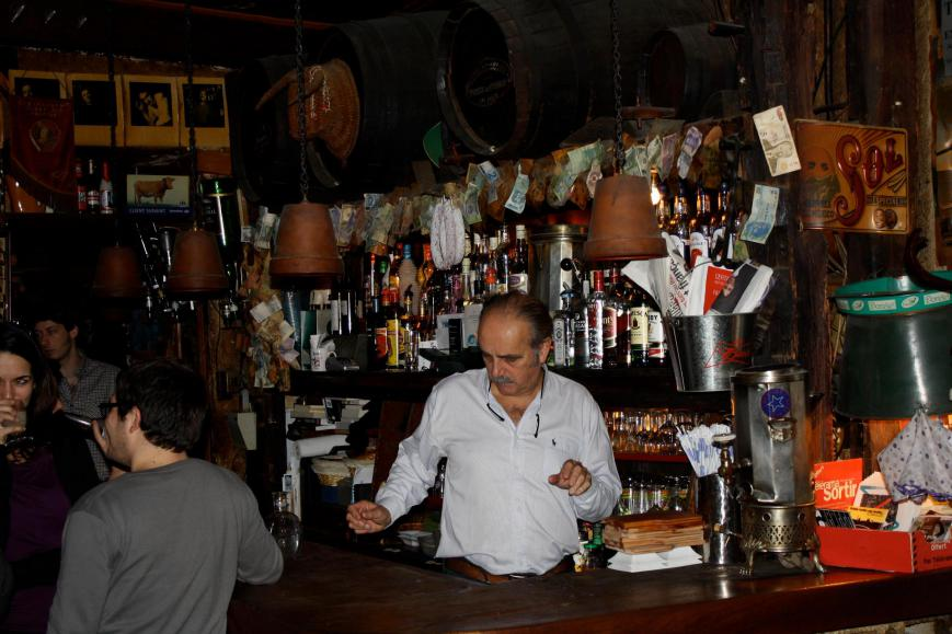 the bar of the piano vache in Paris