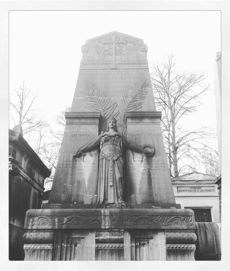 Picture of a free things to do in Paris : visit the pere Lachaise cemetery