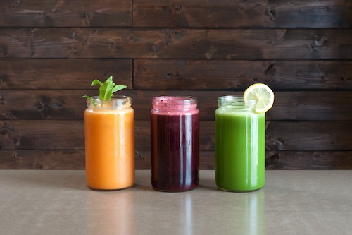 Picture of a juice bar in Paris.